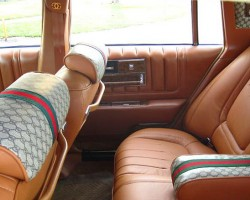 1979 Cadillac Seville Gucci rear seat view.  (Photo credit: G. Sullivan)