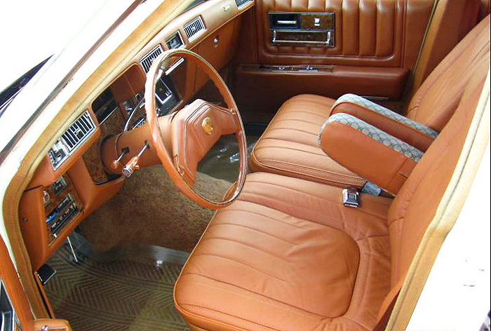 Front seat view of a '79 Seville Gucci edition.  (Photo credit: G. Sullivan)