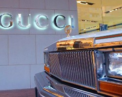 A 1978 Seville Gucci edition photographed in front of an outlet location in Queensland, Australia.  (Photo credit: Gucci Inc.)