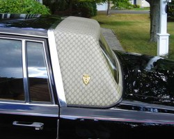 A close up view of a 1979 Seville Gucci edition in sable black.  (Photo credit: P. Carbone)