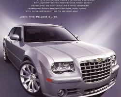 A 2007 Chrysler 300 SRT8 advertisement  (Photo credit: Chrysler Corporation)