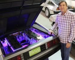 New DMC founder and CEO Stephen Wynne began the reborn DMC as a parts supplier in 1995. Today, he introduces a new all-electric vehicle.  (Photo credit: DeLorean Motor Company)