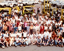 Employees of the new DeLorean Motor Company at company headquarters in Humble, Texas.  (Photo credit: DeLorean Motor Company)