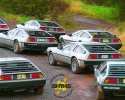 A rallye at a recent DeLorean Club gathering.  (Photo credit: DeLorean Motor Company)