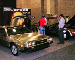 The reborn Delorean Motor Company will be producing new vehicles with original-spec body parts. Power will be solely from electric battery packs.  (Photo credit: Sean Connor)