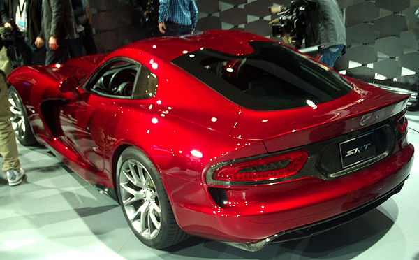 A new Dodge Viper debuts for 2013 and will be on display next week. Fans will not be disappointed with its V10 engine producing 640hp.  (Photo credit: Sean Connor)
