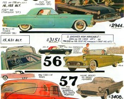 1955 through 1957 Ford Thunderbird 2-seaters are examined in depth on this page.  (Photo credit: Tad Burness)
