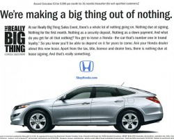 Some say this 2010 Honda Accord Crosstour ad examplifies modern hatchback hype.  (Photo credit: American Honda Motor Company)