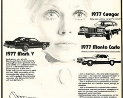 1977, Lincoln, Mark V, advertisement, lease rates