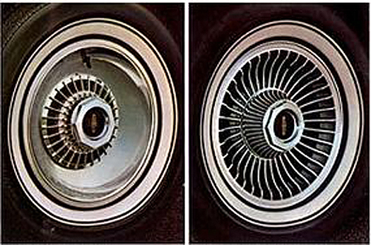 Lincoln, Mark V, 1977, aluminum wheels