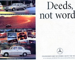 1991 Mercedes S-Class advertisement.  (Photo credit: Mercedes-Benz USA)