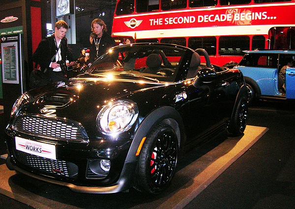 The Mini Speedster John Cooper Works edition is on display next week.  (Photo credit: Sean Connor)