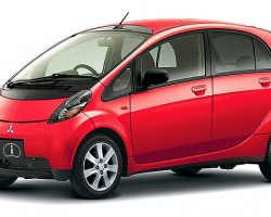 "Mitsubishi plans to sell their ""i-Miev"" electric microcar in the United States.  Many at the NY auto show viewing it were overheard saying there isn't one clean line on it.  (Photo credit: Mitsubishi Motors Corporation)"