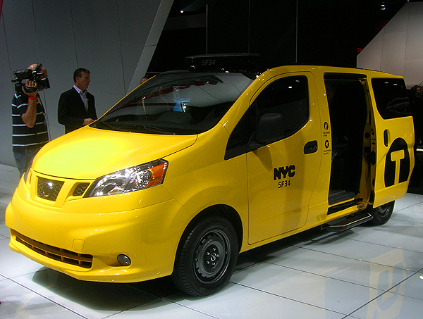 New York City mayor Michael Bloomberg awarded the city's taxi production contract to Nissan for this new design of all-purpose minivan.  (Photo credit: Sean Connor)
