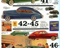 Packards from 1941 through 1947.  (Photo credit: Tad Burness)