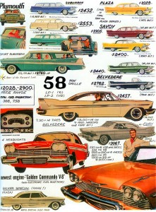 1958 Plymouth Page From American Car Spotter S Bible 1940