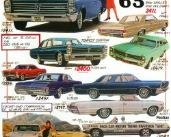 1965 Pontiac Tempest, LeMans and GTO models are highlighted here.  (Photo credit: Tad Burness)
