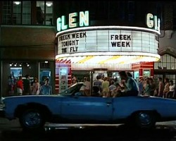 "In the 1986 movie ""Lucas"", Charlie Sheen pilots a 1975 Pontiac Grand Ville convertible as Corey Haim walks over to greet everyone.  Internet Movie Car Database helped me track down the name of this movie over 20 years after seeing it in passing on television.  (Photo credit: imcdb.org)"