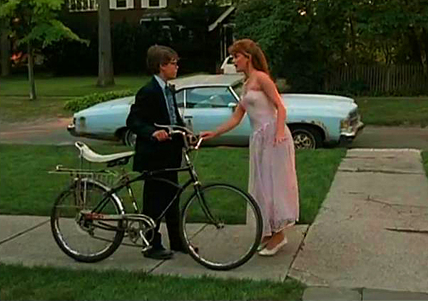 Corey Haim's anticipated prom date gets derailed as his love interest (Kerri Green) stands him up to be with Charlie Sheen instead.  (Photo credit: imcdb.org)