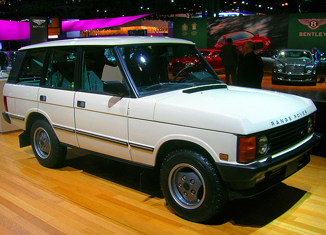 To mark 25 years selling vehicles in the United States, Land Rover / Range Rover displays this 1987 Range Rover - their first product offering stateside.  (Photo credit: Sean Connor)