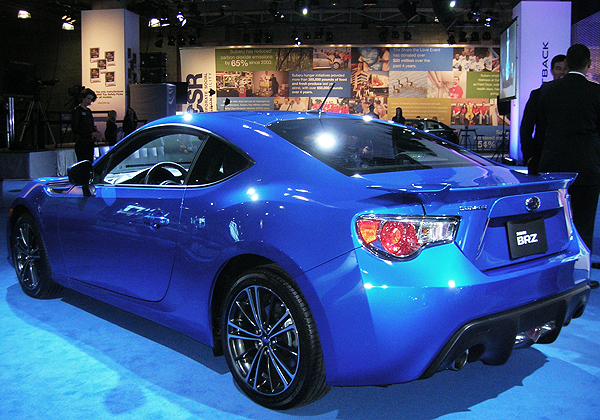 Subaru introduces its first rear-wheel-drive-only BRZ model. Designed for light weight, low content, and affordability it is equally well-balanced to look at.  (Photo credit: Sean Connor)