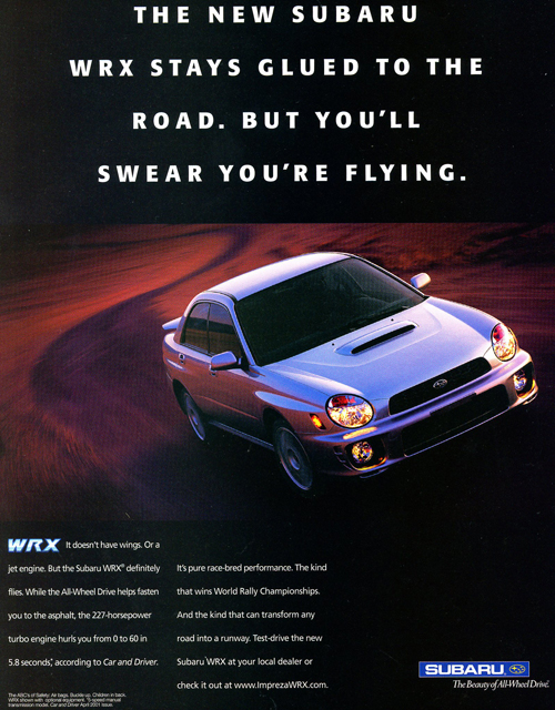 2002 Subaru WRX introduction ad | CLASSIC CARS TODAY ONLINE
