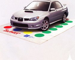 "A 2006 Subaru WRX ""Twister"" advertisement.  (Photo credit: Subaru of America)"
