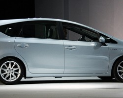 Toyota expands its Prius lineup with the larger Prius V model seen here.  (Photo credit: Jecques Leonard)