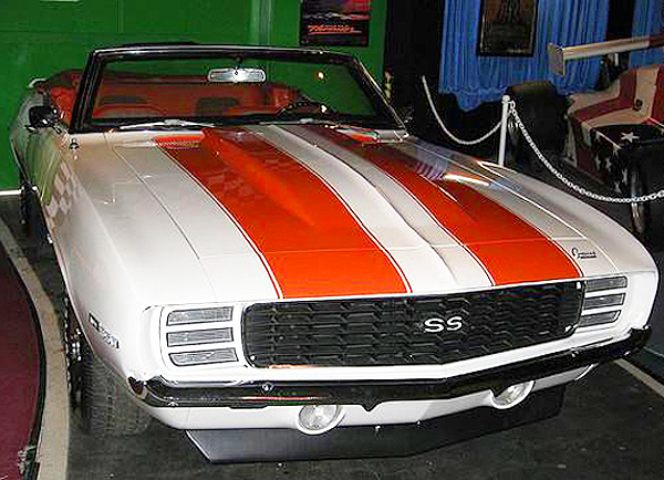 This 1969 Chevrolet Camaro SS convertible was used in the movie remake of Charlie's Angels.  (Photo credit: Hollywood Star Cars Museum)