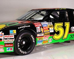A 1990 Chevrolet Lumina stock car driven by Tom Cruise in Days Of Thunder.  (Photo credit: Hollywood Star Cars Museum)