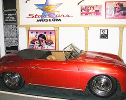 This 1960 Porsche 356 Speedster was driven by Michael J. Fox in the movie Doc Hollywood.  (Photo credit: Hollywood Star Cars Museum)