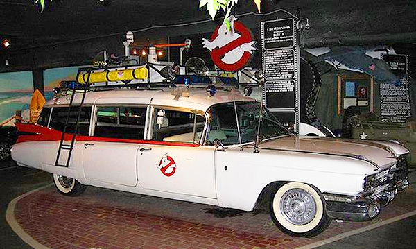 """ECTO 1"" - the 1959 Cadillac ambulance used in the Ghostbusters movie series.  (Photo credit: Hollywood Star Cars Museum)"