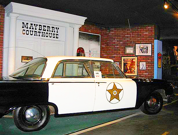 The 1964 Ford Custom used as Andy Griffith's Mayberry Police Department cruiser in that season of The Andy Griffith Show.  (Photo credit: Hollywood Star Cars Museum)