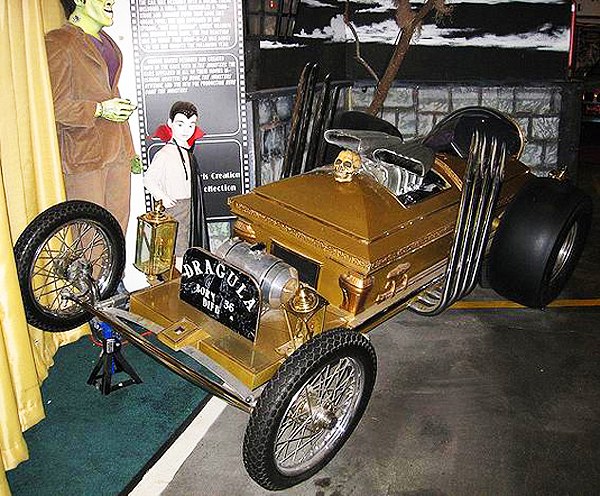 """Dragula"" - the coffin-shaped hot rod used in the television series The Munsters.  (Photo credit: Hollywood Star Cars Museum)"