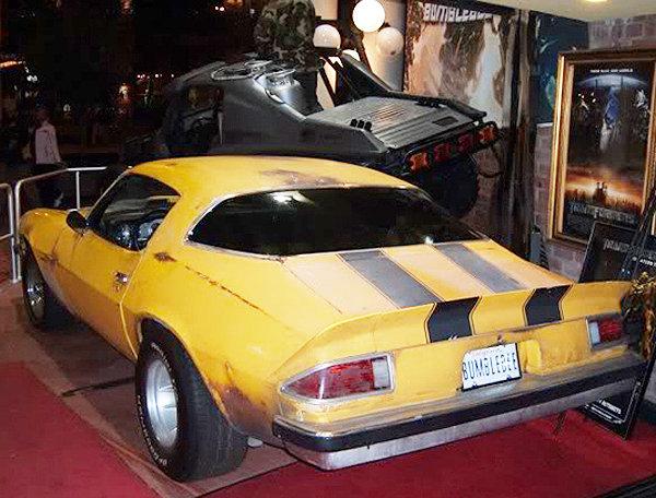 "The 1977 Chevrolet Camaro known as ""Bumblebee"" from The Transformers movie.  (Photo credit: Hollywood Star Cars Museum)"