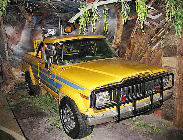 "The Jeep Comanche pickup used in the movie ""Twister"".  (Photo credit: Hollywood Star Cars Museum)"