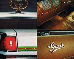 Page 2 of an original brochure from Gucci.  (Photo credit: Gucci Inc.)