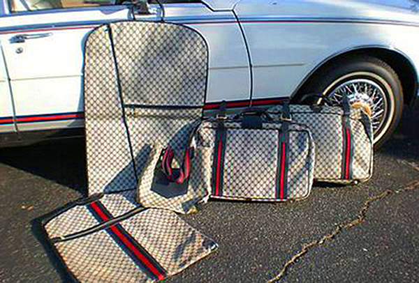 The matching luggage, as equipped on 1980-84 Gucci edition Sevilles.  (Photo credit: S. Delano)