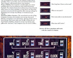 Cadillac literature explaining the digital trip computer option introduced on 1978 Seville models only.  Most Gucci editions were so equipped.  The following year, it was also offered on '79 Eldorados.  (Photo credit: General Motors Corporation)
