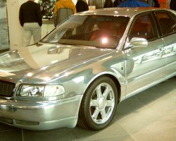 This mid-1990s concept car was created to showcase the all-aluminum frame of the first A8 model introduced for the 1997 model year.  (Photo credit: Sean Connor )
