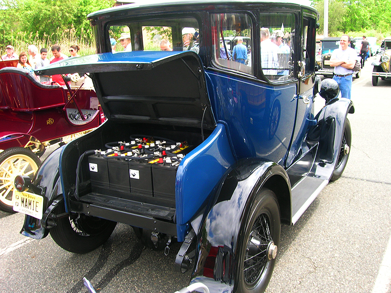 1914 Detroit Electra electric car, rear view.  (Owned by Ira Pitel)