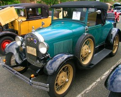 1928 Ford Model A roadster.  (Owned by Dan Ungar)