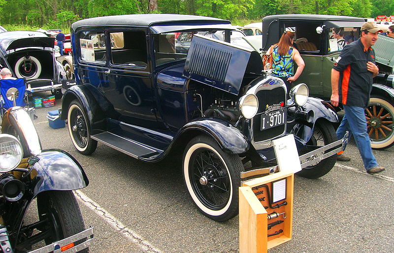 1929 Ford Model A two-door sedan with vinyl roof.  (Owned by Tom Fritz)