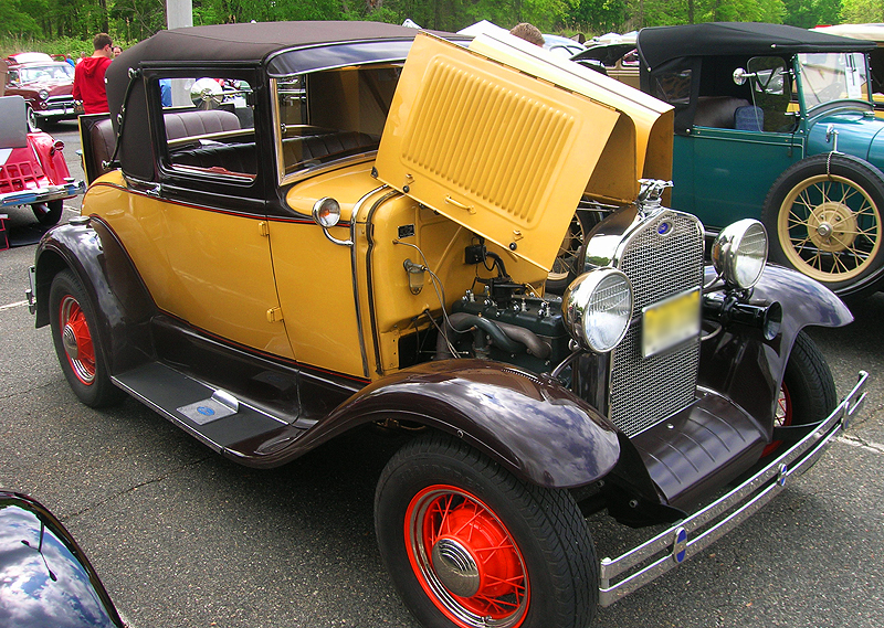 1930 Ford Model A coupe with vinyl roof covering.  (Owned by Richard Bettle)