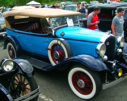 1932 Plymouth 4-door convertible.  (Owned by Joan Hagaman)