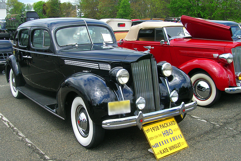 "1938 Packard sedan used in the 2011 movie ""Mildred Pierce"" starring Kate Winslet.  (Owned by Jack Harkavy)"