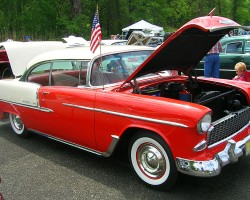 1955 Chevrolet Bel Air hardtop coupe.  (Owned by Joe Livorsi)