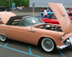 1956 Ford Thunderbird two-seat convertible.  (Owned by Niles Feigenbaum)