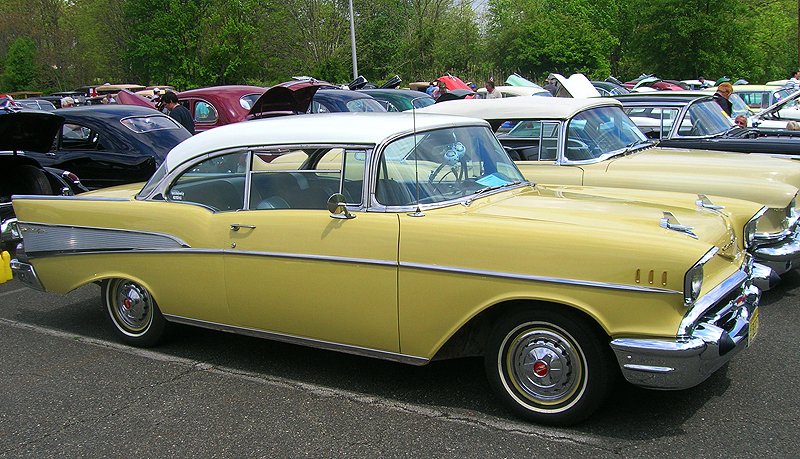 1957 Chevrolet Bel Air hardtop coupe.  (Owned by Bill Pritchett)