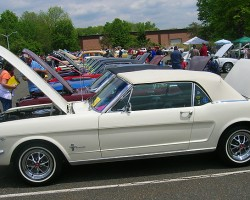 1965 Ford Mustang coupe.  (Owned by Greg Newell)